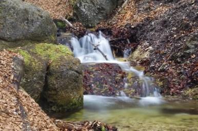 horne diery, jeden z wąwozów prowadzących przez szlak w małej fatrze na słowacji, widoczny wodospad
