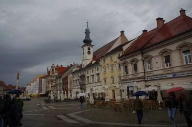glavni trg w mariborze w słowenii