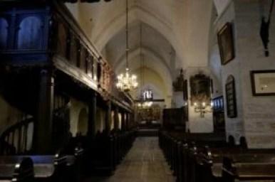 wnętrze kościoła świętego ducha w tallinie w estonii