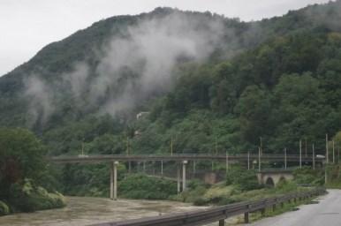 most na sawie w miejscowości podkraj w słowenii