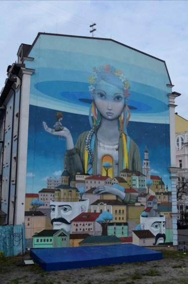 mural na ulicach kijowa na ukrainie