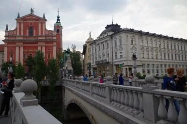 tromostovje w ljubljanie w słowenii