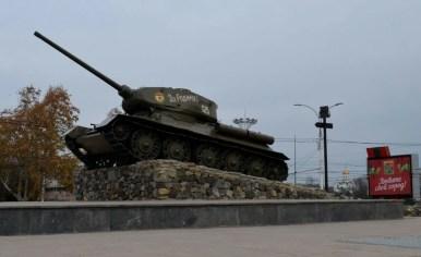czołg t-34 w tyraspolu w separatystycznej republice naddniestrza