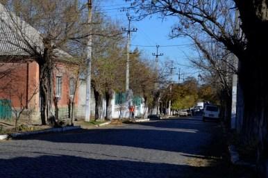 dawna ulica dzierżyńskiego w białogrodzie nad dniestrem na ukrainie