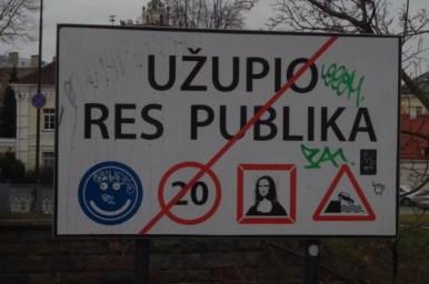 wejście na teren wolnej republiki zarzecza w wilnie na litwie