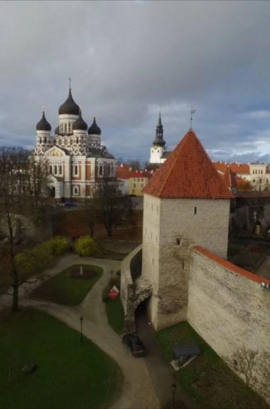 widok z wieży kiek in de kok na tallinn w estonii