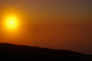 wschód słońca na babiej górze w beskidzie żywieckim