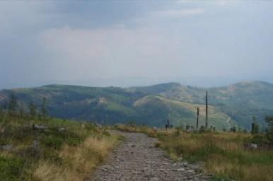 widok z baraniej góry w kierunku magurki radziechowskiej w beskidzie śląskim