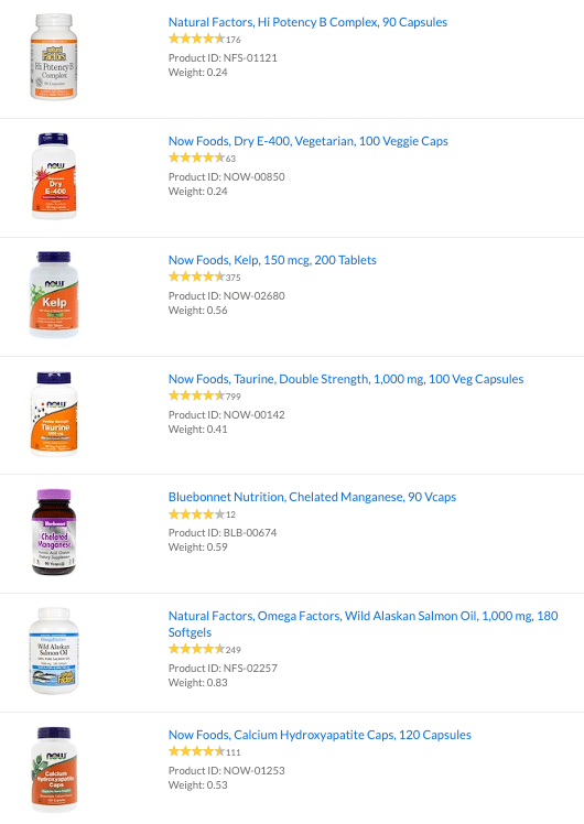 vitamin supplements from iherb