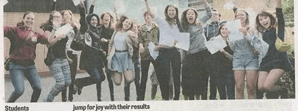 The day I recieved my A Level results and an offer to study Biomedical Sciences at University