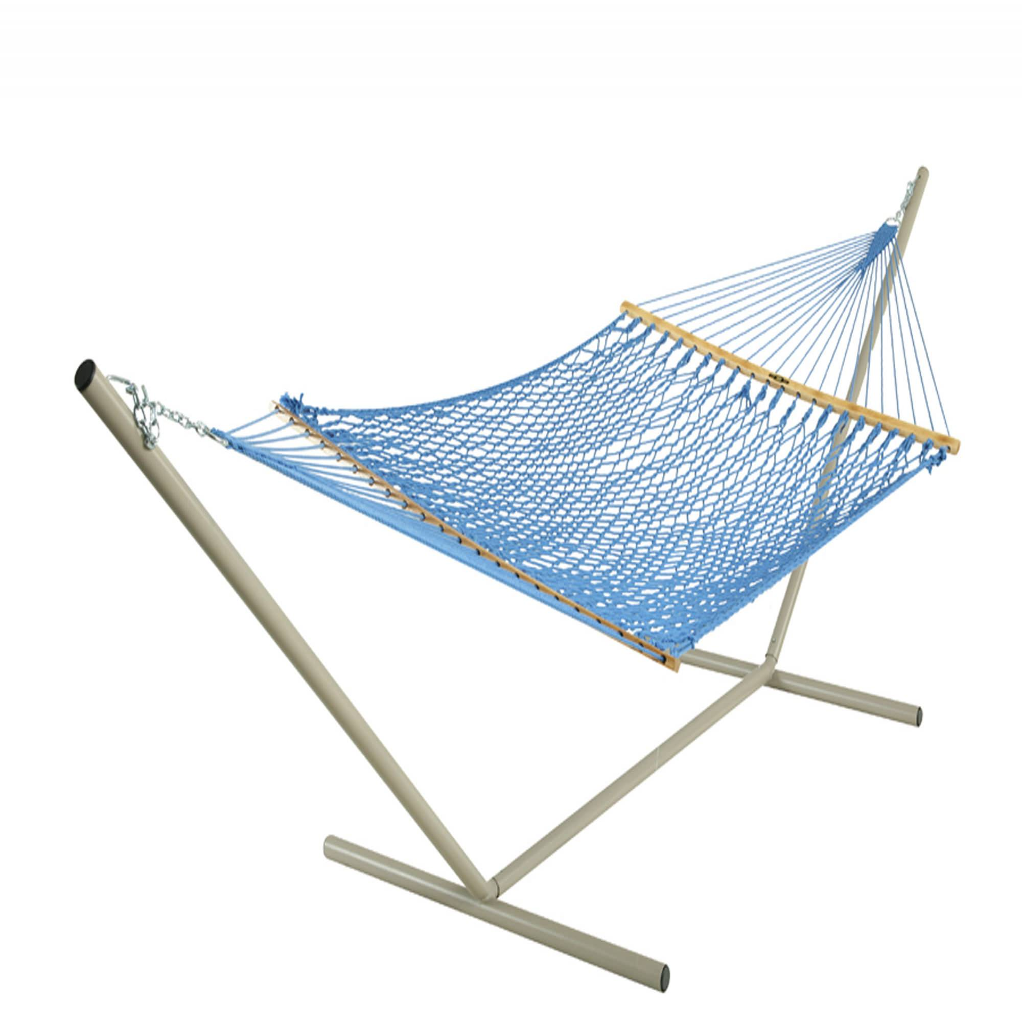 Large Original Coastal Blue Duracord Rope Hammock