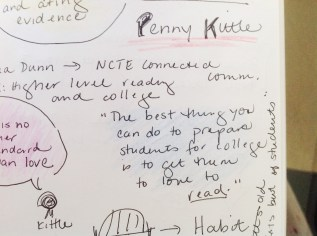 """Notes from Penny Kittle's """"Literacy for Democracy"""""""