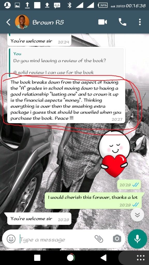5 Years In School Testimonial By Mr. Brown