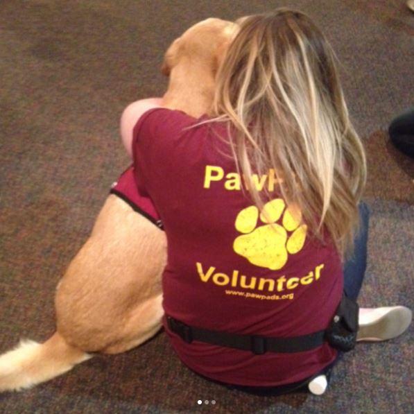 PawPADs volunteer and service dog