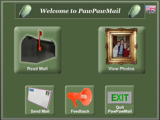 PawPawMail - Main Page