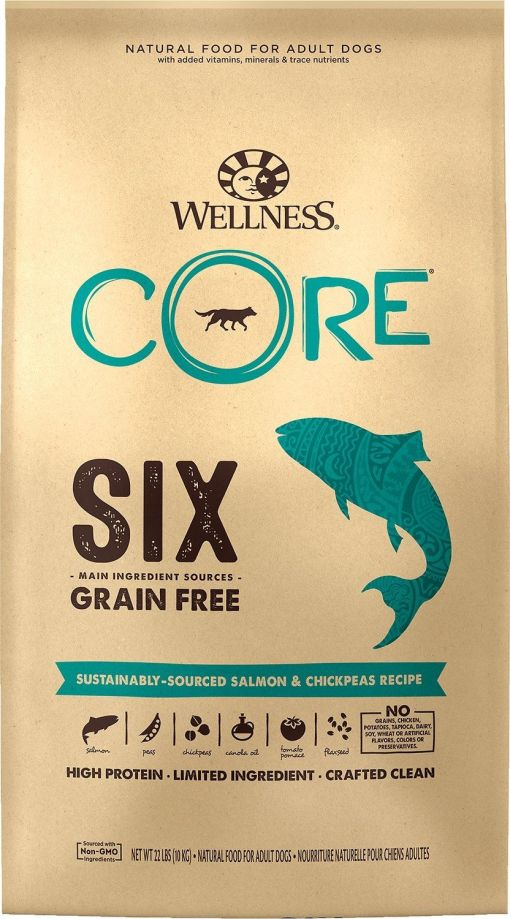 Wellness CORE SIX Grain Free Dog Food - Single Protein - Salmon