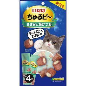 INABA 流心粒粒貓小食 - 雞肉 + 燒鰹魚 QSC-273 (10g x4)