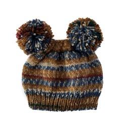 Natural Stripes Bear Hat