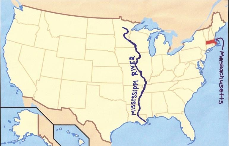map usa mississippi river