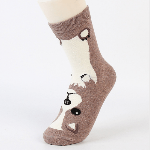 doge socks in coffee