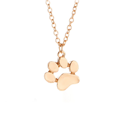 paw-print gold necklace