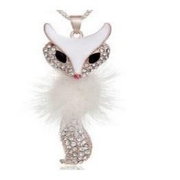 White Fox Necklace