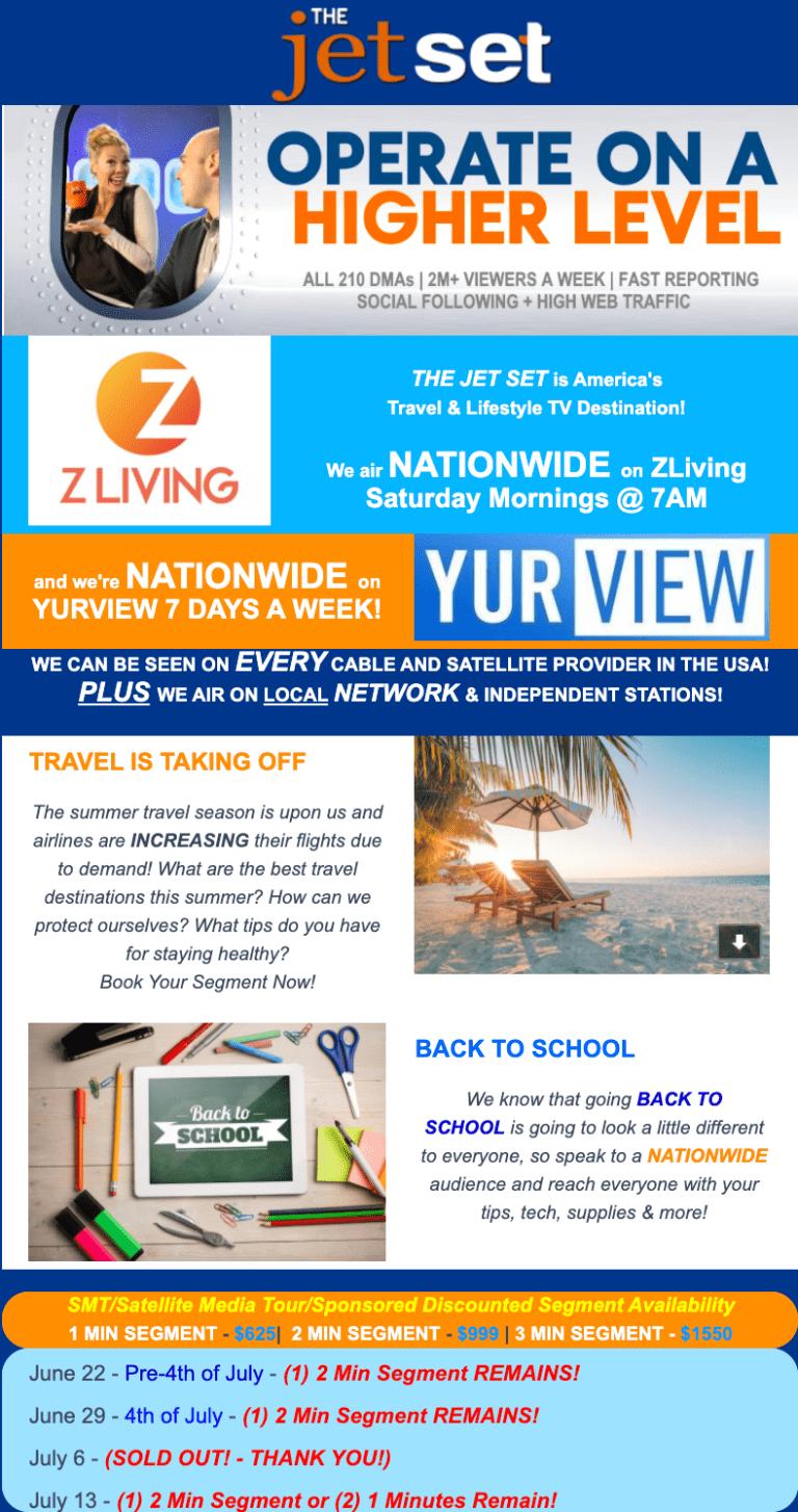 The Jet Set: Travel & Lifestyle Morning TV Promo