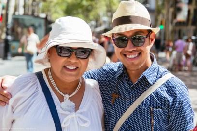 Ria and me in Las Ramblas