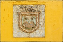 The seal of the city of Izamal, notice the Franciscan cord