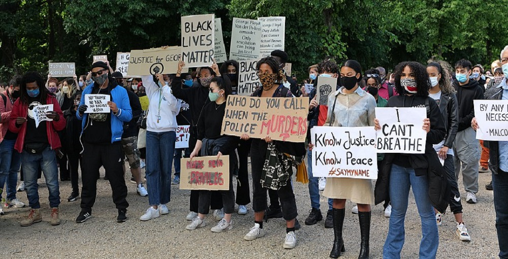 Black Lives Matter protest 1000 by 510