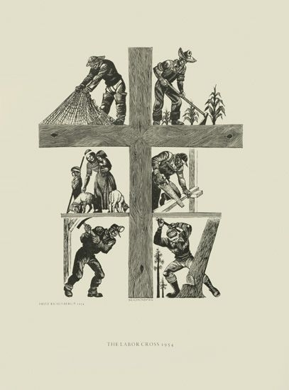 Fritz Eichenberg's The Labor Cross