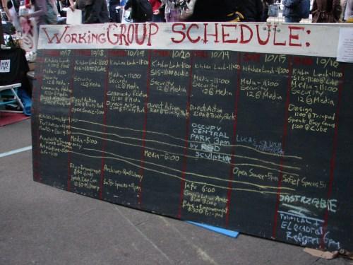 OWS schedule