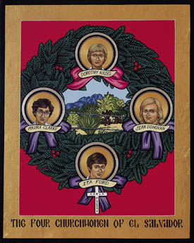 Icon of the churchwomen martyred in El Salvador