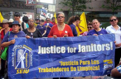 Justice for Janitors campaign in Houston