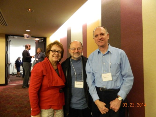 Maria Elena Durazo, Executive Secretary-Treasurer of the Los Angeles County Federation of Labor, AFL-CIO; Rev. Chris Ponnet of Pax Christi LA; and keynote speaker Rev. Tom Smolich, S.J. at PC-SoCal's annual assembly.