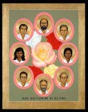 Jesuit Martyrs of El Salvador, by Robert Lentz, ofm