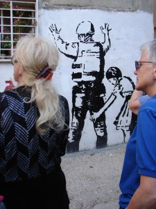 Palestinian street art in Dheisheh camp.