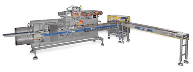 "Semi-automatic line for packaging cookies ""on edge"" in Slugs"