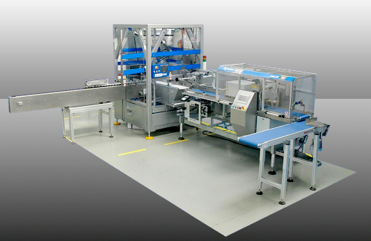 Semi-Automatic packaging Line of filled syringes for veterinary use