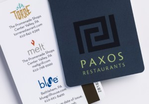 Paxos Restaurants gift cards, for Torre, Melt or blue restaurants in the Lehigh Valley