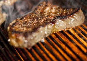 perfectly grilled steak is a specialty at blue in Bethlehem, PA