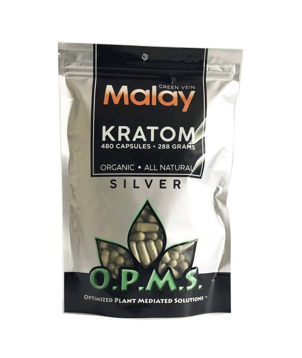 OPMS Silver Malay Kratom Capsules