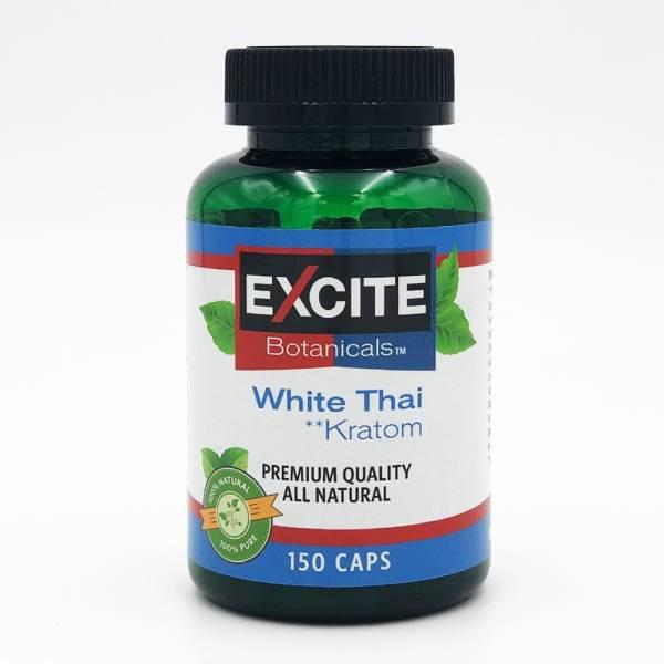 excite kratom white thai capsules