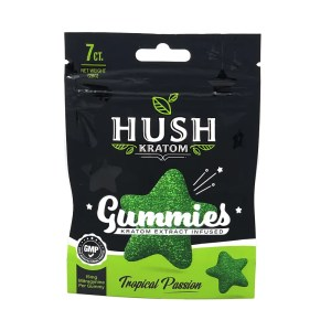 hush kratom gummy front