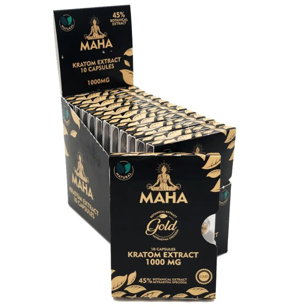 maha gold 10 caps pack