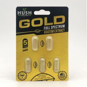 hush gold extract kratom capsules 5
