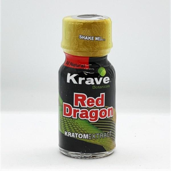 krave red dragon kratom extract liquid shot single