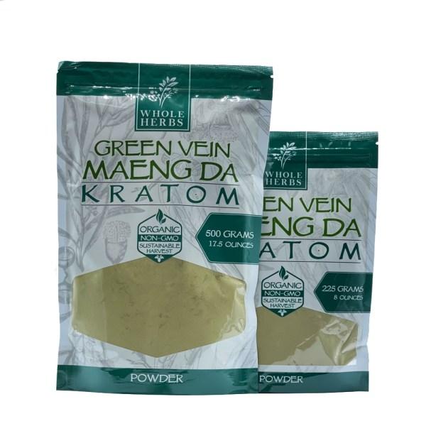 whole herbs green vein maeng da kratom powder