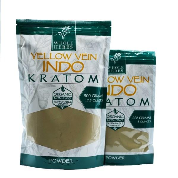whole herbs yellow vein indo kratom powder