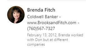 Testimonial of Brenda Fitch